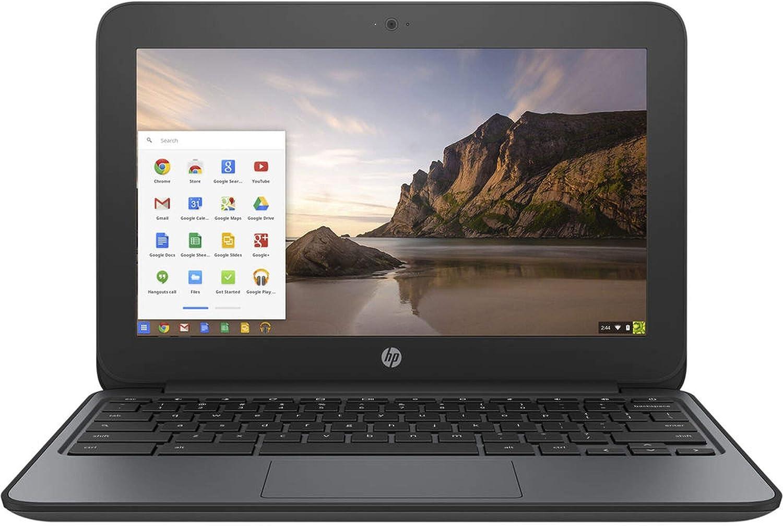 HP Chromebook 11 G4 Education Edition V2W30UT - Intel Celeron N2840 2.16GHz, 4GB RAM, 16GB SSD, 11.6-inch - Black (Renewed
