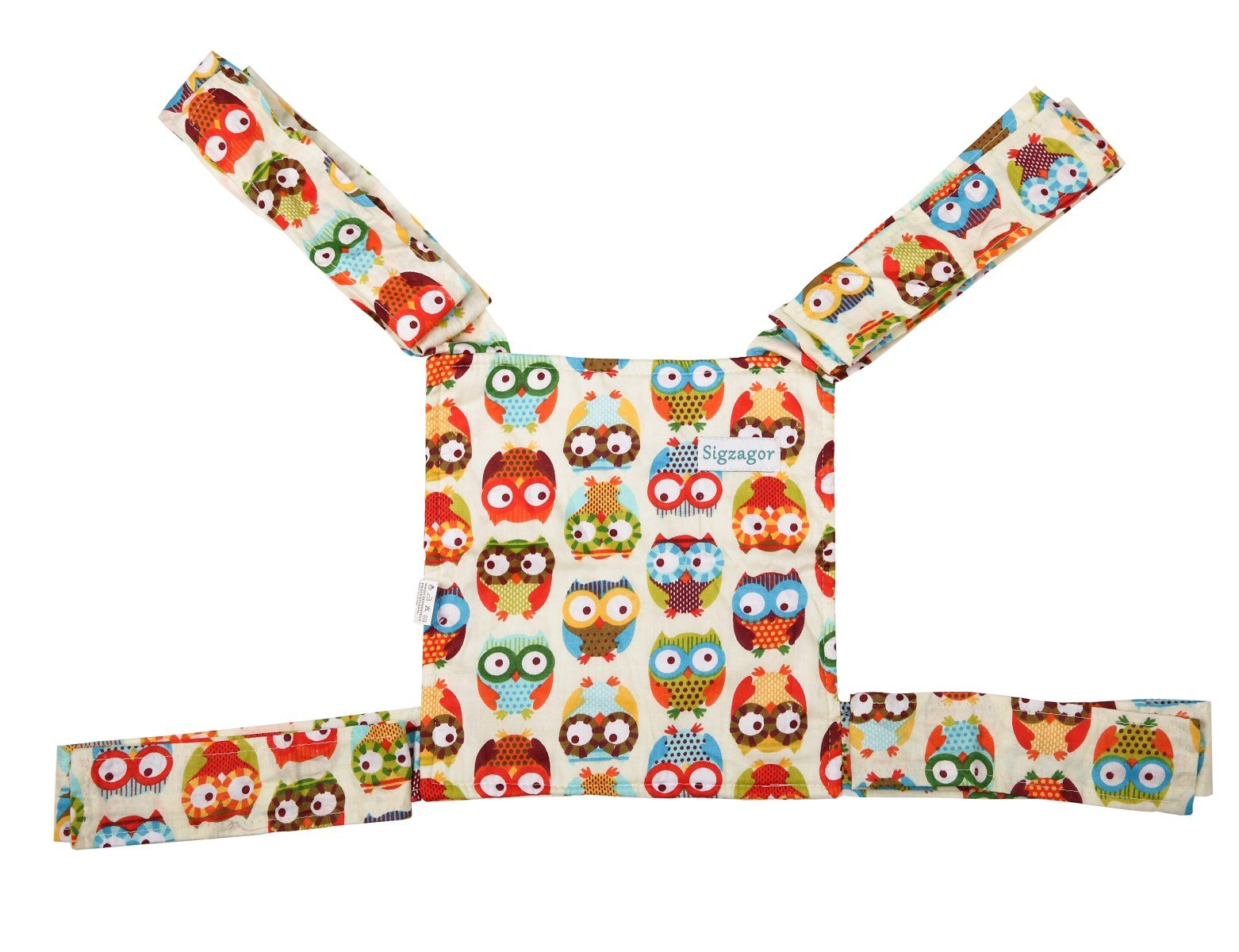 Sigzagor Baby Doll Carrier Mei Tai Sling Toy For Kids Children Toddler Front Back,Mini Carrier,Owl,Dot,Flower,Kaleidoscope (Owl) by Sigzagor (Image #7)