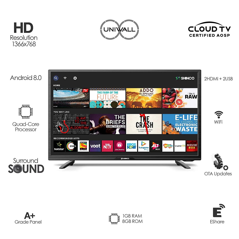 Shinco 80 cm (32 Inches) HD Ready Smart LED TV
