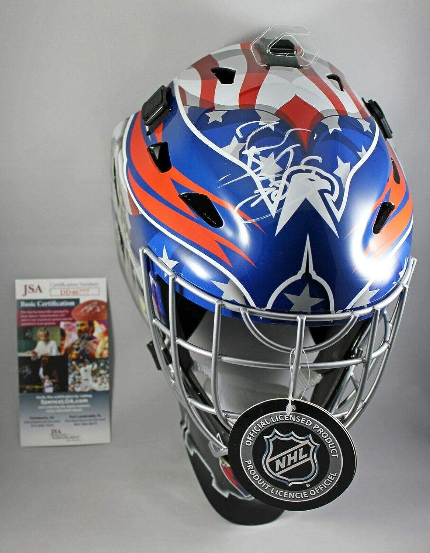 Amazon Com Braden Holtby Signed Full Size Washington Capitals Goalie Mask Helmet W Jsa Coa Sports Collectibles