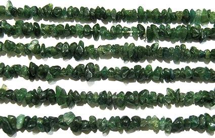 Natural Green Jade Irregular Chip Gravel Uncut Nugget 4mm To 8mm Strand 34 inche