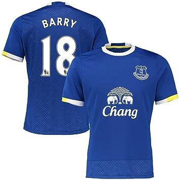 Nueva Temporada Jersey de fútbol - Everton # 18 Barry fútbol camiseta: Amazon.es: Deportes y aire libre