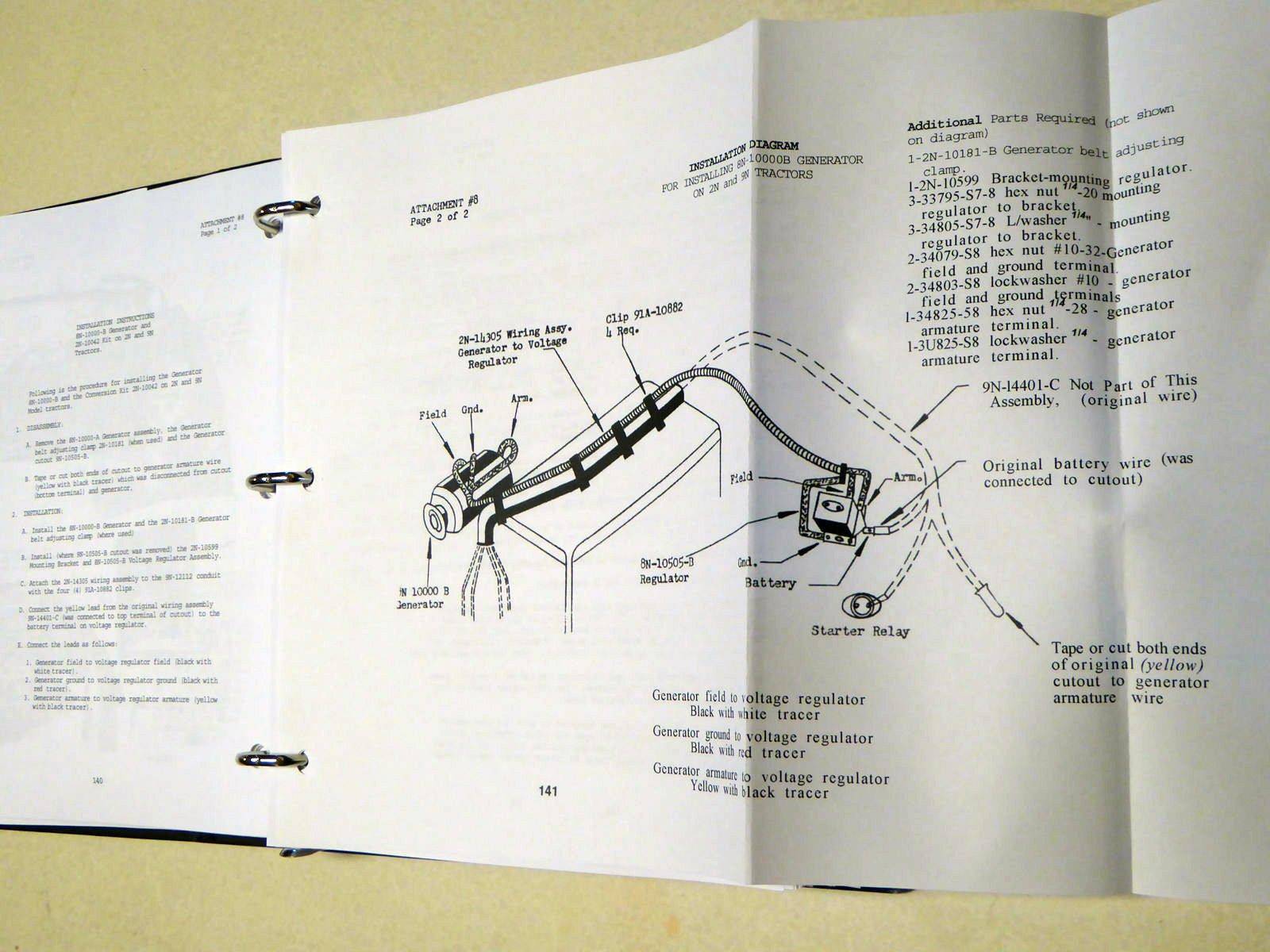 ford new holland 9n 2n 8n tractor 1942 repair service manual