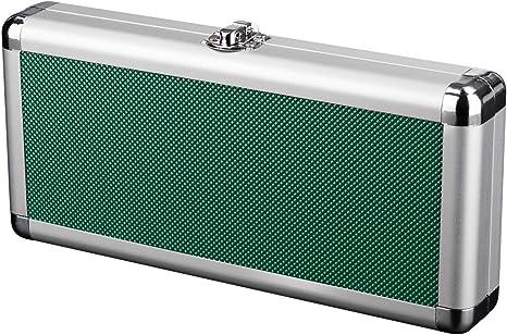 Zzapit estuche metálico de aluminio para transporte y almacenamiento - verde (Nintendo Switch): Amazon.es: Videojuegos