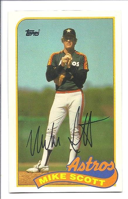Mike Scott 1989 Topps Talkljn 50 Card Houston Astros Baseball At
