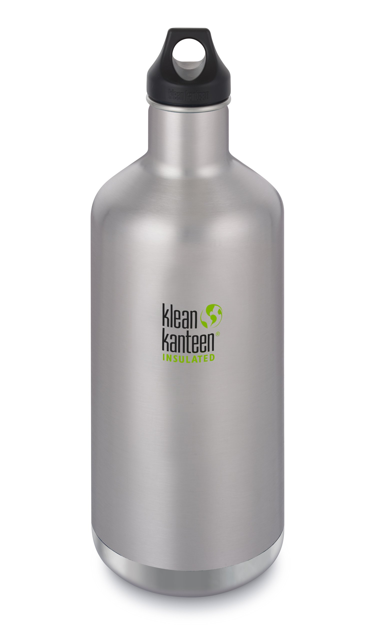 Klean Kanteen Classic Stainless Steel Double Wall Insulated Water Bottle with Loop Cap, 64-Ounce, Brushed Stainless by Klean Kanteen