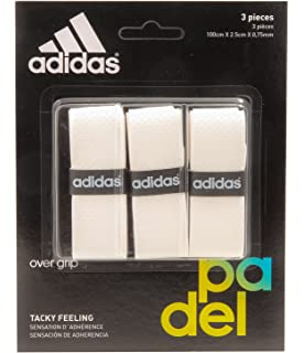 adidas Pádel OV - Set overgrip, Color Blanco, Talla única