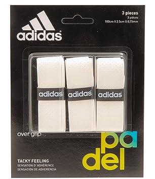 adidas Pádel OV - Set overgrip, Color Blanco, Talla única: Amazon.es: Deportes y aire libre