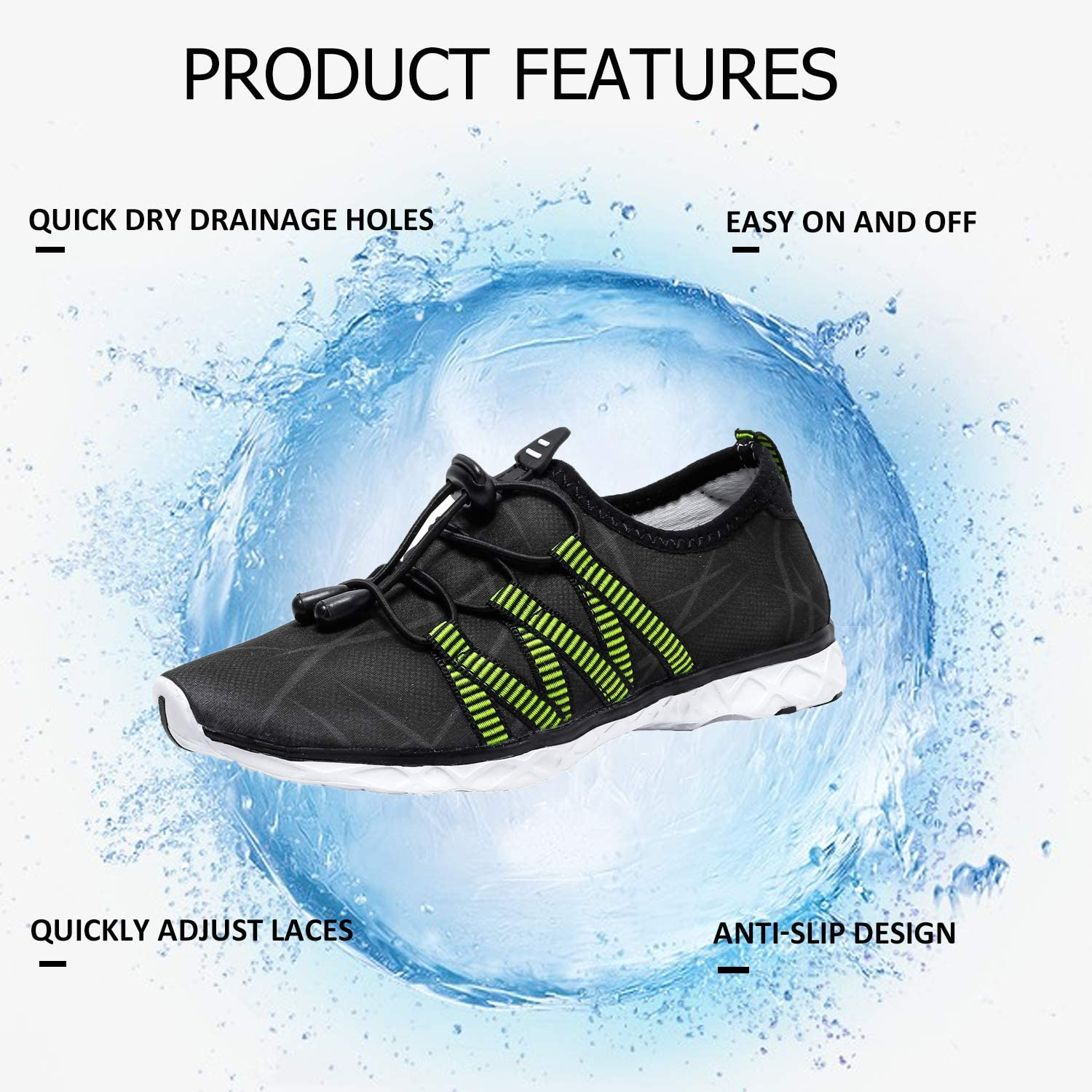AMAWEI Boys Girls Water Shoes Kids Quick-Dry Lightweight Barefoot Beach Shoes Athletic Sneakers Aqua Sports Shoes for Swimming,Diving,Walking,Yoga