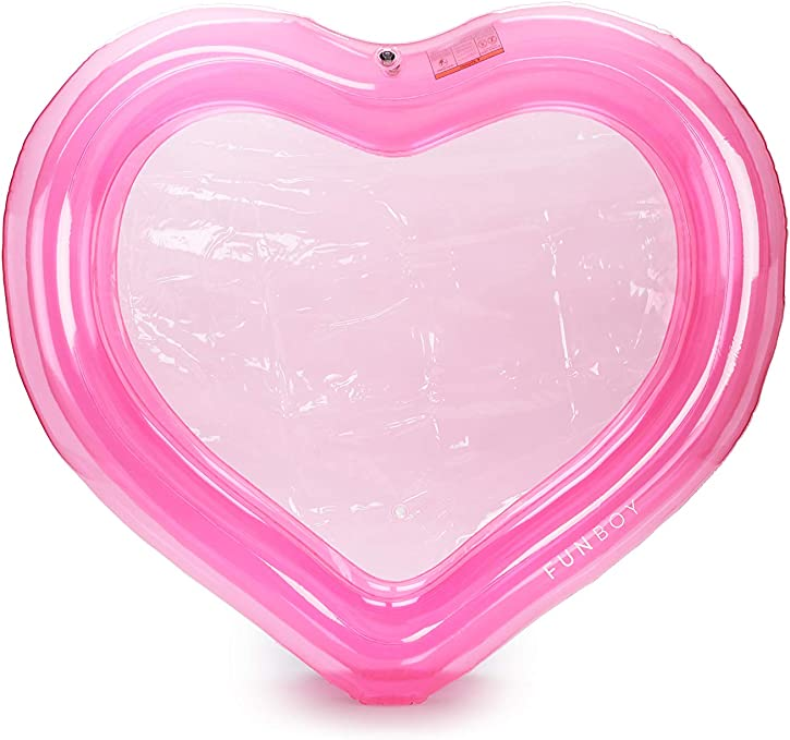 Funboy Hrt Pinkheart Clear Pink Heart Splash Pool Kiddie Garden Outdoor