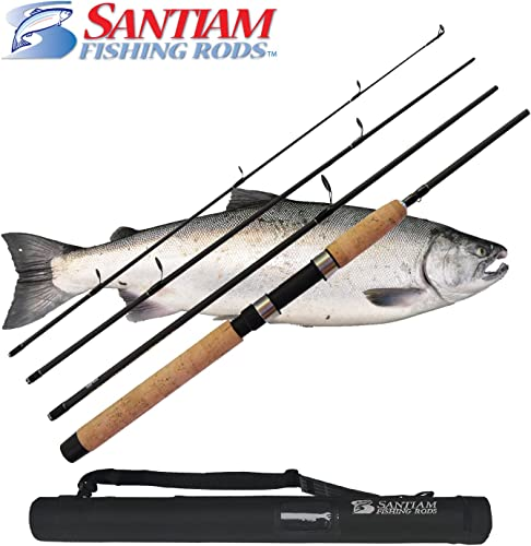 Santiam Fishing Rods Travel 4 Piece 7 6 15-30lb MF Graphite Spinning Rod