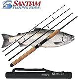 Santiam Fishing Rods Travel 4 Piece 7'6'' 15-30lb MF Graphite Spinning Rod
