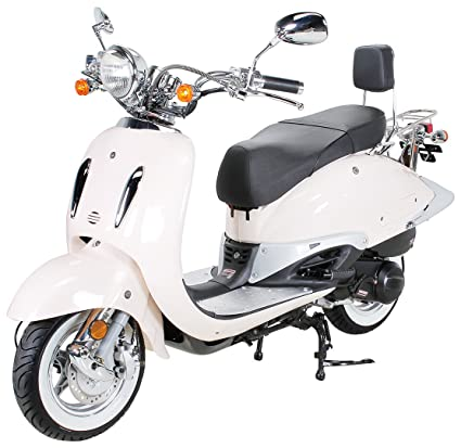 znen Retro Classic Scooter Euro 4 zn125t de S Blanco pared ...
