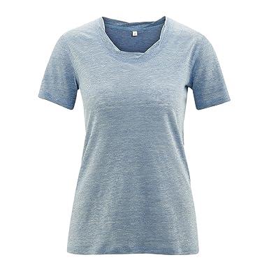 06bc766141fe2a Living Crafts Damen T-Shirt aus reinem Bio-Leinen (XL