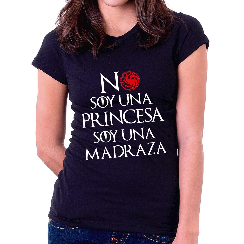 Custom Vinyl Camiseta Dia de la Madre Khaleesi No Soy una Princesa Negra, L - Entallada