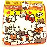 ハローキティ☆猫だらけキティミニタオル3枚セット 柄違いデザイン3枚 綿100%