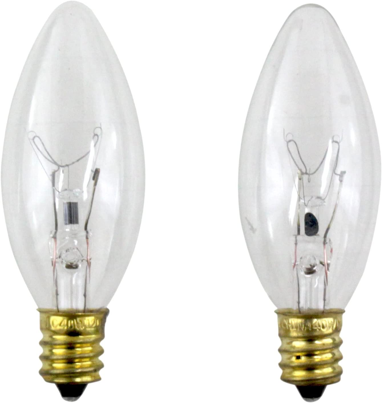 Philips 40 Watt Clear Ceiling Fan Light Bulbs Candelabra Base B8 2 Pack Incandescent Bulbs Amazon Canada