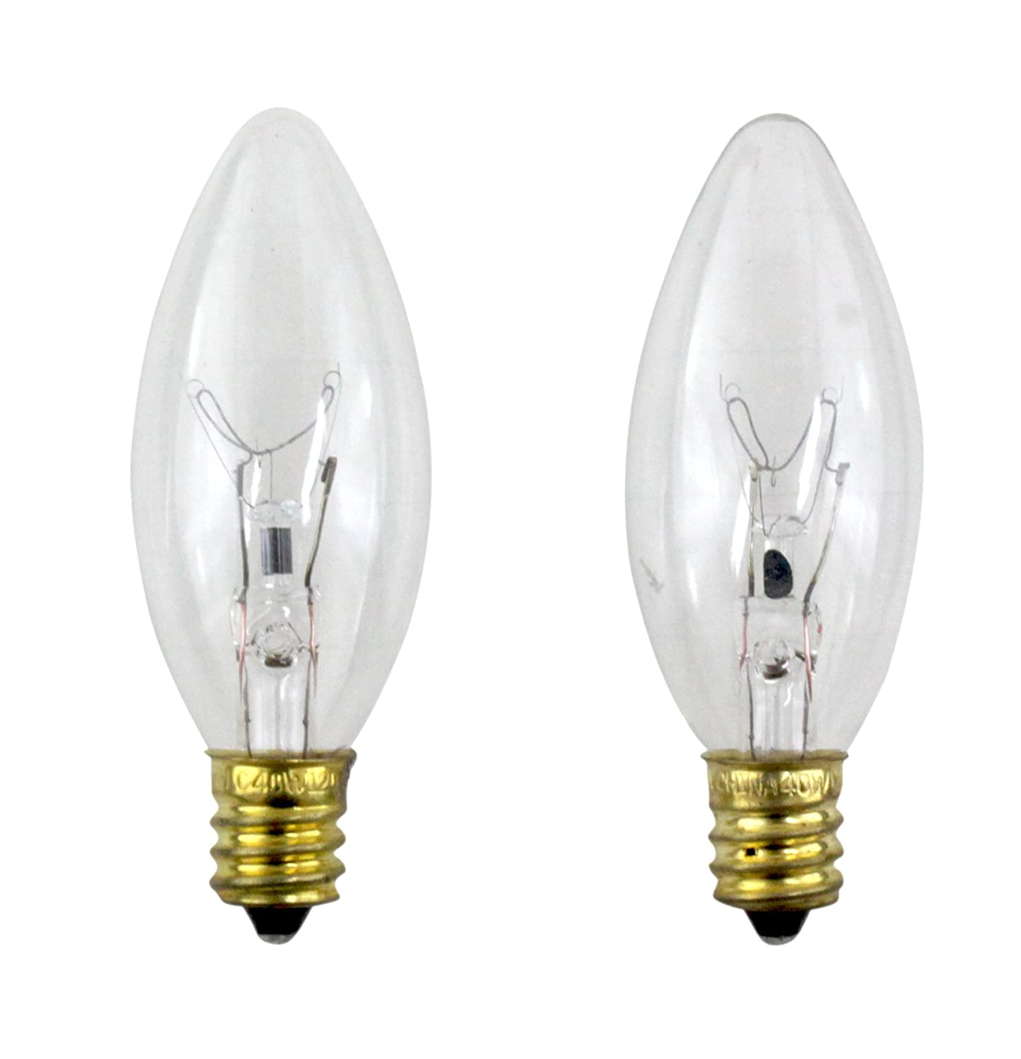 PHILIPS 40-Watt Clear Ceiling Fan Light Bulbs - Candelabra Base B8 (2-Pack)  - Incandescent Bulbs - Amazon.com - PHILIPS 40-Watt Clear Ceiling Fan Light Bulbs - Candelabra Base B8