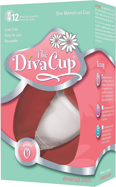 DivaCup - Copa menstrual modelo 0 DVSK0-EO, Modelo 0 Kit, 1 ...