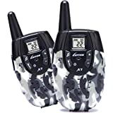 Walkie Talkies For Kids Toys For Boys And Girls Top Rated Birthday Gifts Outdoor Toys With Rechargeable Battery(Camo 1 Pair)