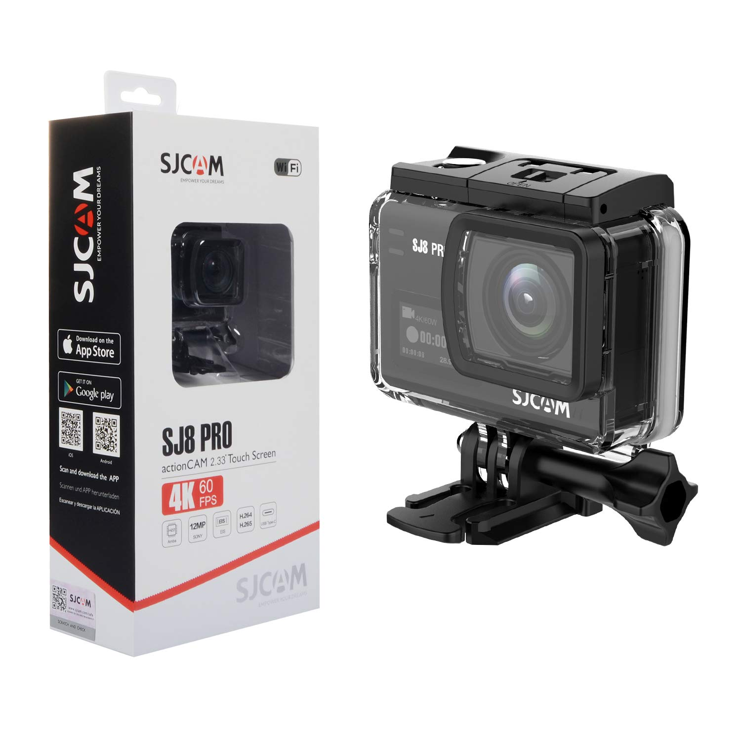 SJCAM SJ8 Pro 4K 60fps Sport Action Camera Mini DV Ambarella H22 S85 SONY  IMX377 Wi-Fi Sports Cam Underwater Camcorder 12MP 30M Waterproof with