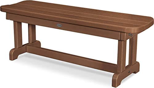 POLYWOOD PBB48TE Park 48 Backless Bench, Teak