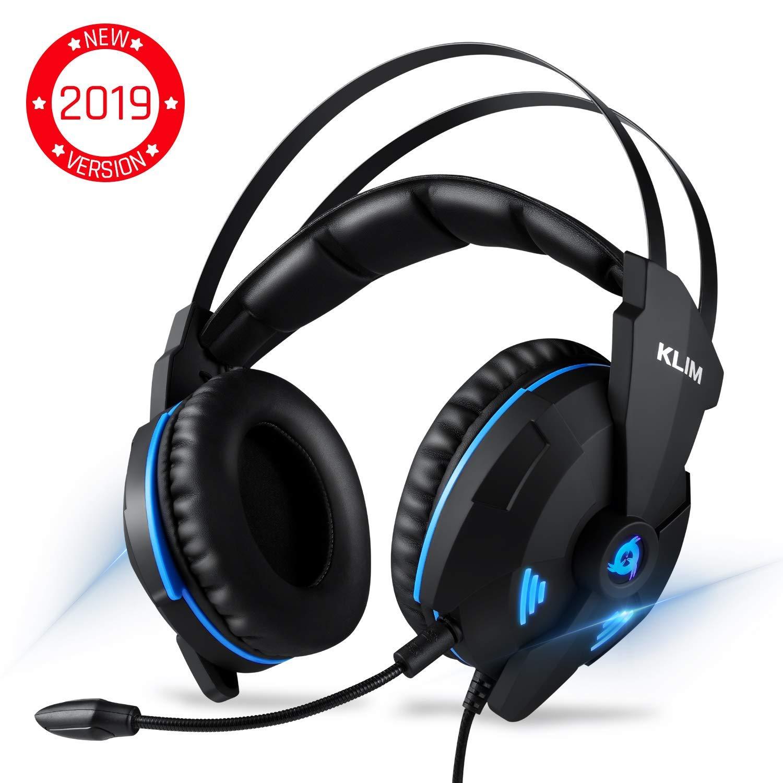 KLIM IMPACT V2 Cuffie Gaming USB - Gamer Headset - Suono Surround 7.1 + Isolamento del Rumore - Audio ad Alta Definizione + Bassi Potenti - Cuffie da Gaming con Microfono Video Games per PC PS4