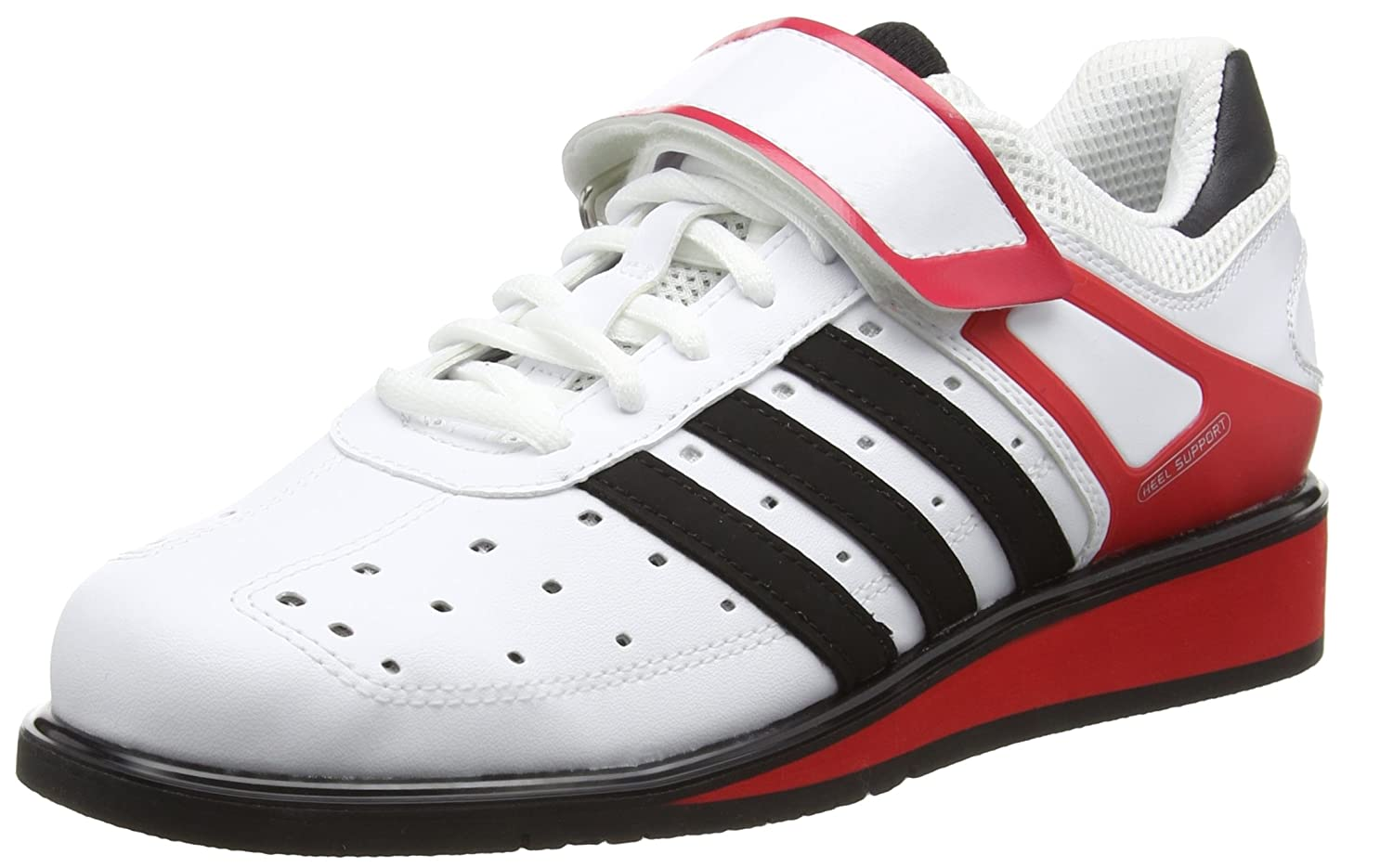 Adidas Power Perfect II, Zapatillas Deportivas para Interior, Unisex Adulto 48 EU|Multicolor (Running White Ftw/Black /Radiant Red )