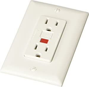 RV Designer S801, Dual GFCI Outlet with Cover Plate, White, AC Electrical
