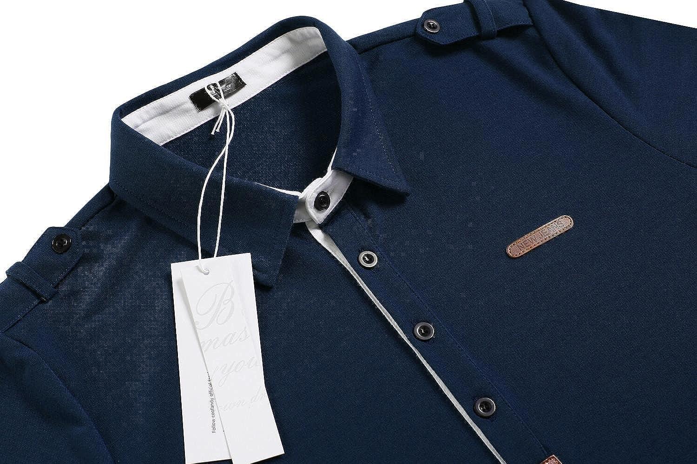 Coofandy Polo Homme Casual de Marque T-Shirt /à Manches Longues Taille S-XXXL