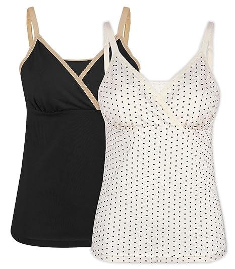 Intimate Portal Damen Komfortables Umstandskleidung Oberteil zum Stillen Stilltop