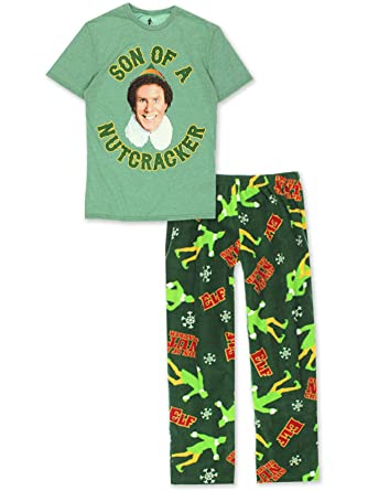 Briefly Stated Elf Movie Buddy The Elf Son of a Nutcracker Men's 2 Piece  Pajama Set Gift Boxed