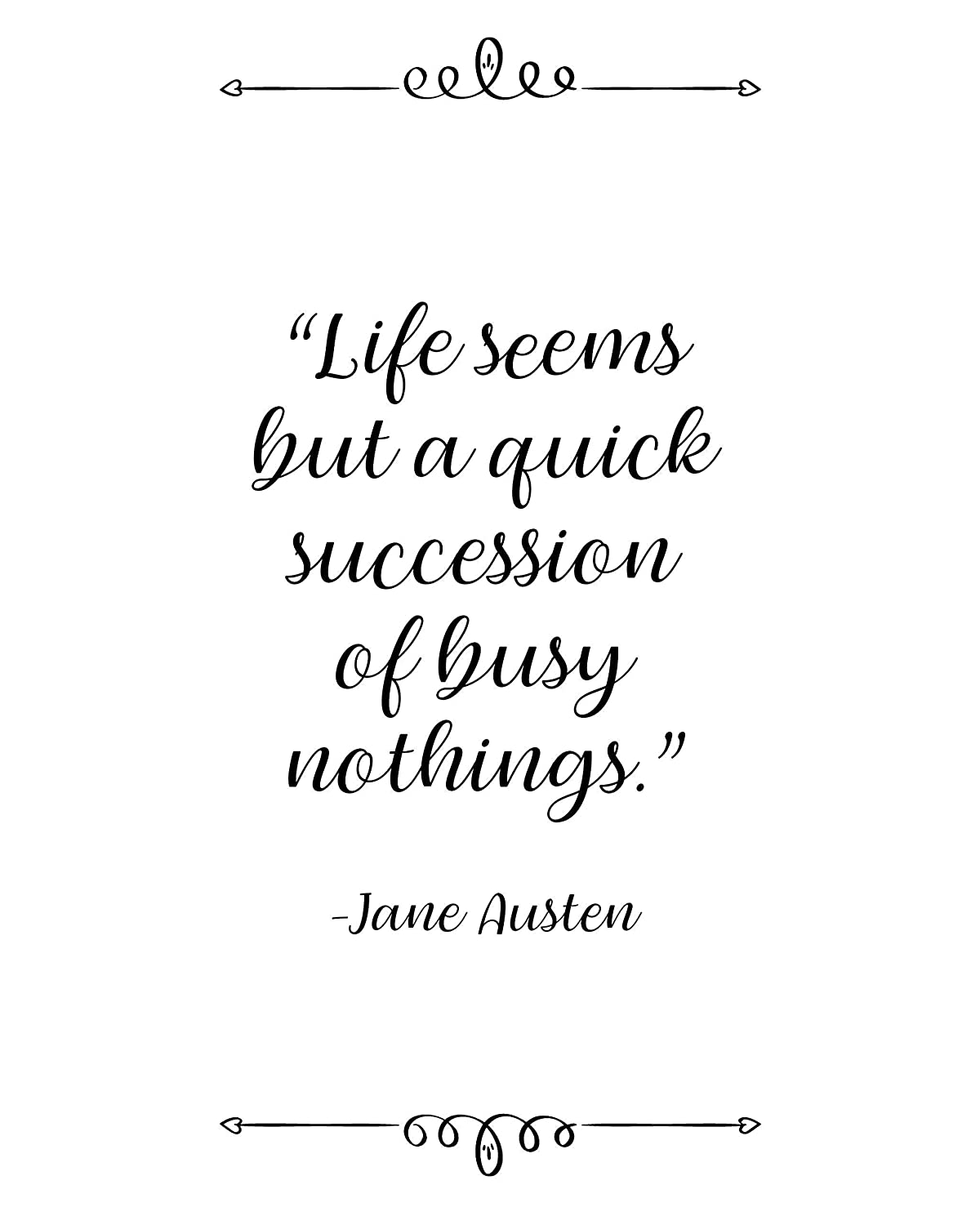com jane austen life seems quote wall art poster prints