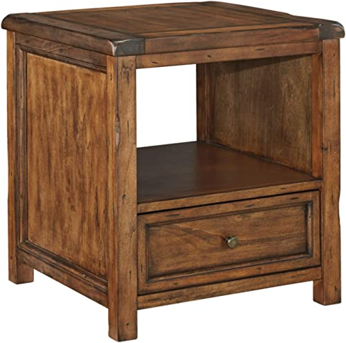 Signature Design by Ashley Tamonie Square End Table Medium Brown