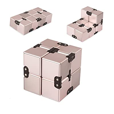 SIXTOY Infinity Cube Fidget Toy EDC Killing Time Decompression Reduce Anxiety Puzzle Toy for Children and Adults: Toys & Games