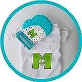 Mouthie Mitten - Moufle mitaine de dentition en silicone - Bleu turquoise