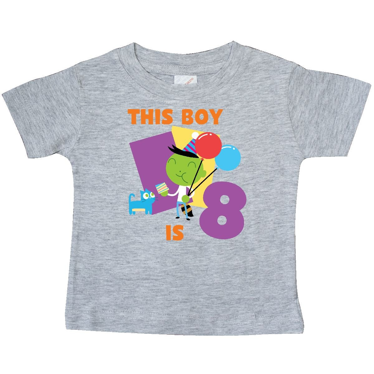inktastic This Boy is 8 with Del Baby T-Shirt PBS Kids
