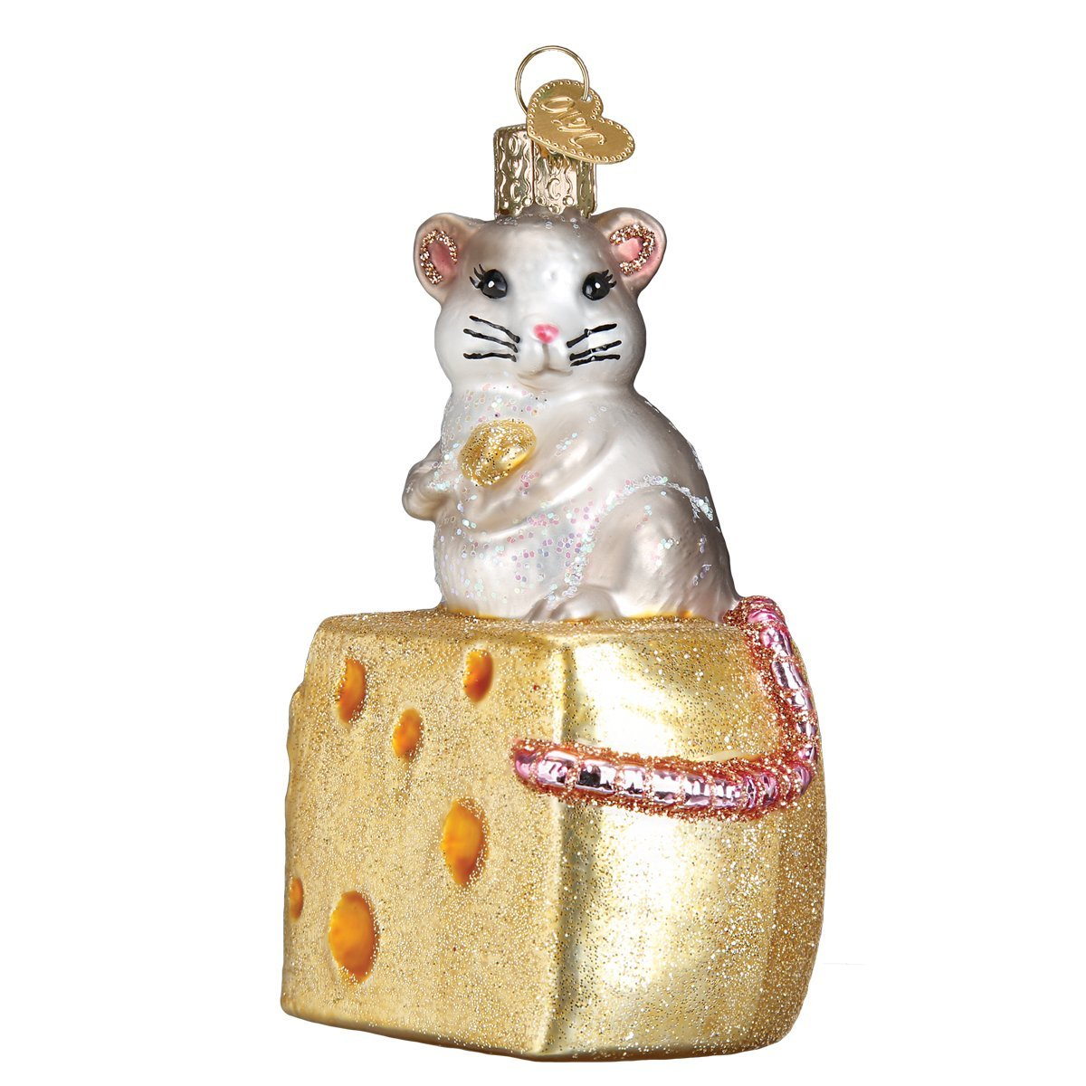 Old World Christmas Glass Blown Ornament Hungry Mouse 12503
