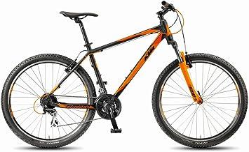 Bicicleta KTM MTB Chicago 27 Classic, color negro mate y naranja ...