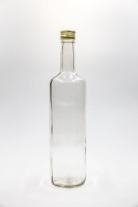 7ce52c0d447 nr 1 glass bottle Gaia 1000 ml flint glass screw-top n°6  Amazon.co ...