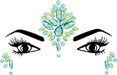 Amazon Com Zac S Alter Ego Crystal Stone Festival Face Gems Jewels Festival Body Art Clothing