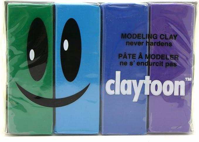 Cool Van Aken International Claytoon Turquoise Green Gluten-Free 4-1//4 Pound Bars Blue Non-Toxic claymation Non-Hardening Modeling Clay 1 Pound Set Violet VA18158