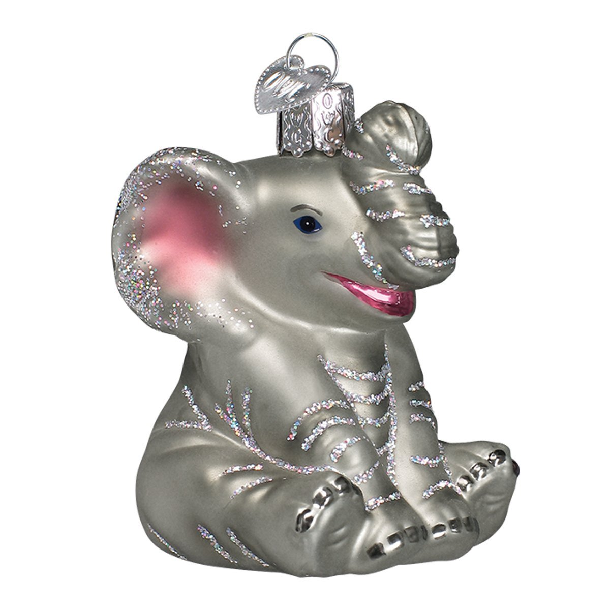 Amazon.com: Old World Christmas Little Elephant Glass Blown ...