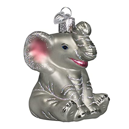 old world christmas ornaments little elephant glass blown ornaments for christmas tree - Amazon Christmas Ornaments