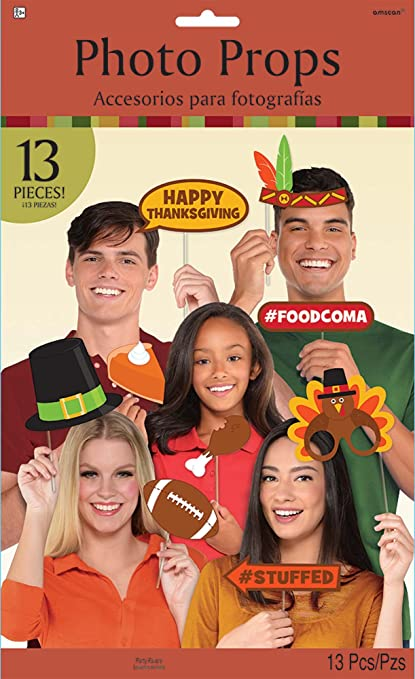Thanksgiving Photo Prop Kit 13 Ct Assorted   Party Favor Amscan 398797