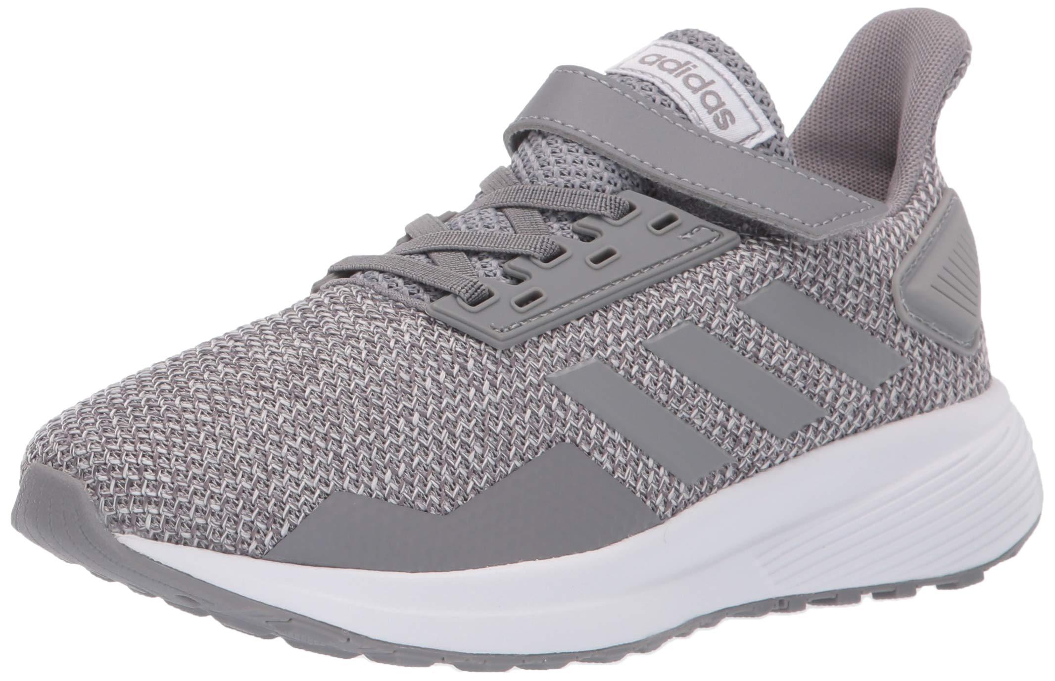 adidas unisex-child Duramo 9 Wide, grey/grey/grey, 3 M US Little Kid