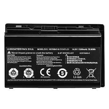 GreatCell 14.8V 76.96Wh 5200mAh W370BAT-8 Batería del Ordenador Portátil Compatible con Clevo W350et W350etq W370et Sager Np6350 Np6370 Schenker XMG A522 ...