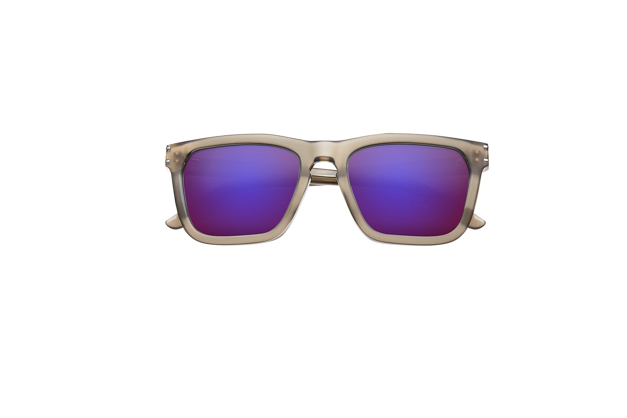 IVI Eyewear Gravitas Matte Dust and Gunmetal with AMETHYST Framed Sunglasses