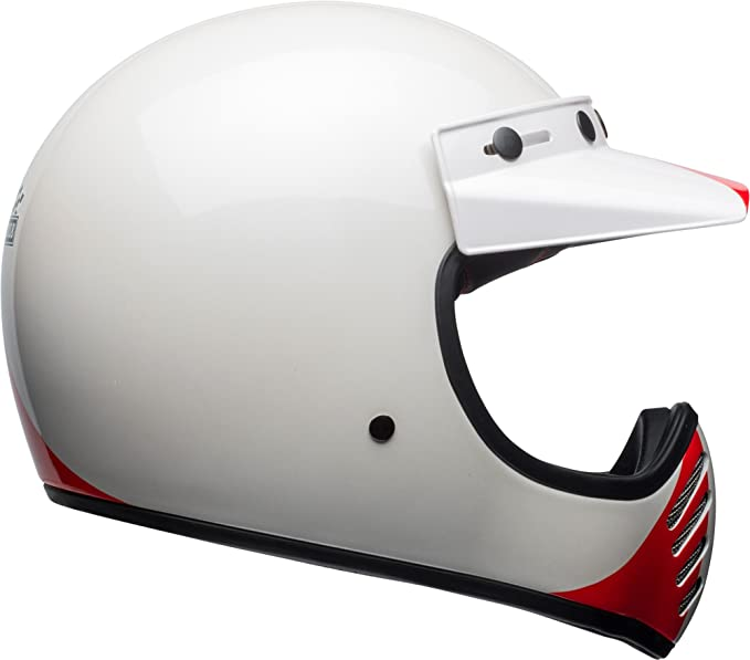 Amazon.com: Bell Moto-3 Off-Road Motorcycle Helmet (Ace Cafe GP 66 Gloss White/Red, XX-Large): Automotive