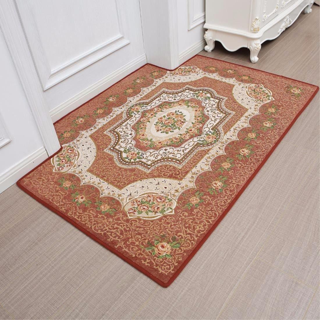 LIUXINDA-DT Modern household carpet, door carpet, lobby carpet, bedroom carpet, living room carpet, antiskid carpet,90cm (23.6 x 60 x 35.4 ''),棕色